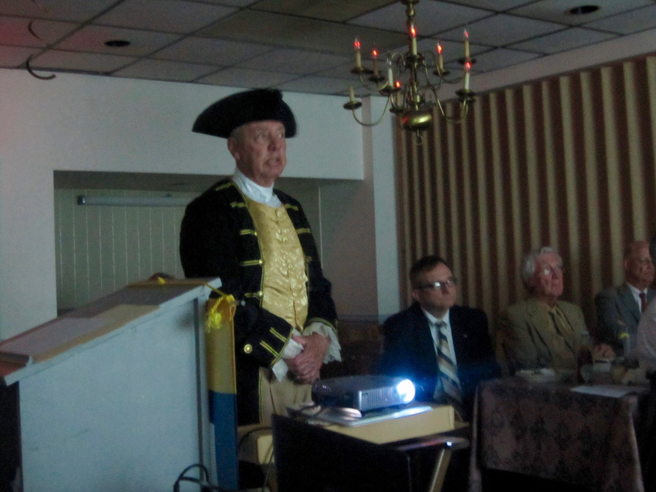 "Col. John Barlow spoke on ""Medicine in the 18th Century before and during the American Revolution\""."