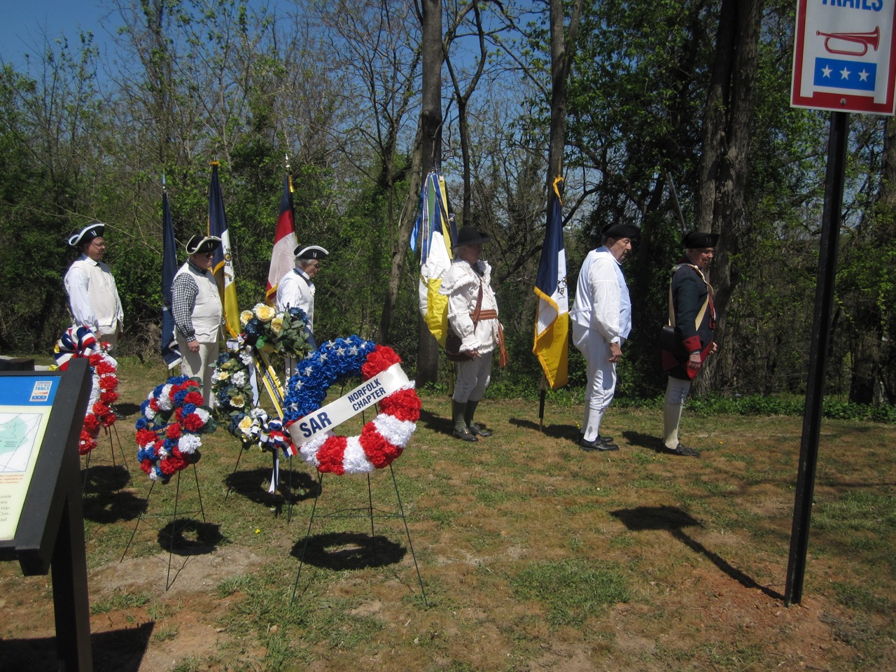 The Norfolk SAR Chapter Wreath at the Monument Ceremony