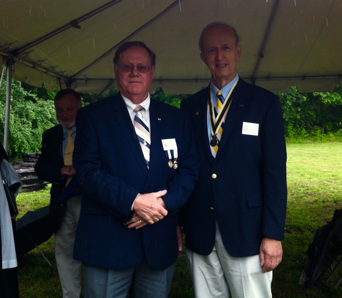 VASSAR President Ed Truslow and Norfolk Chapter SAR Secretary Edward Douglas at the Dedication of the Tomb of the Unknown Patriot Soldier