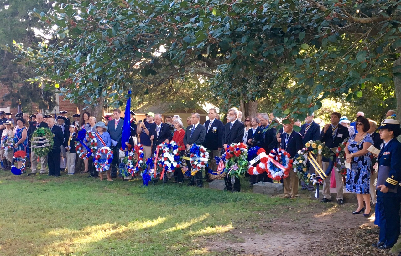 Wreath bearers from various SAR and DAR Chapters assemble for the wreath presentation