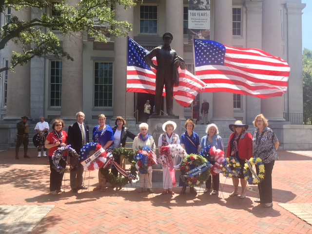 Norfolk Chapter SAR President Ken Hawkins attends the Flag Day Ceremony at the MacArthur Memorial in Downtown Norfolk on June 14, 2018