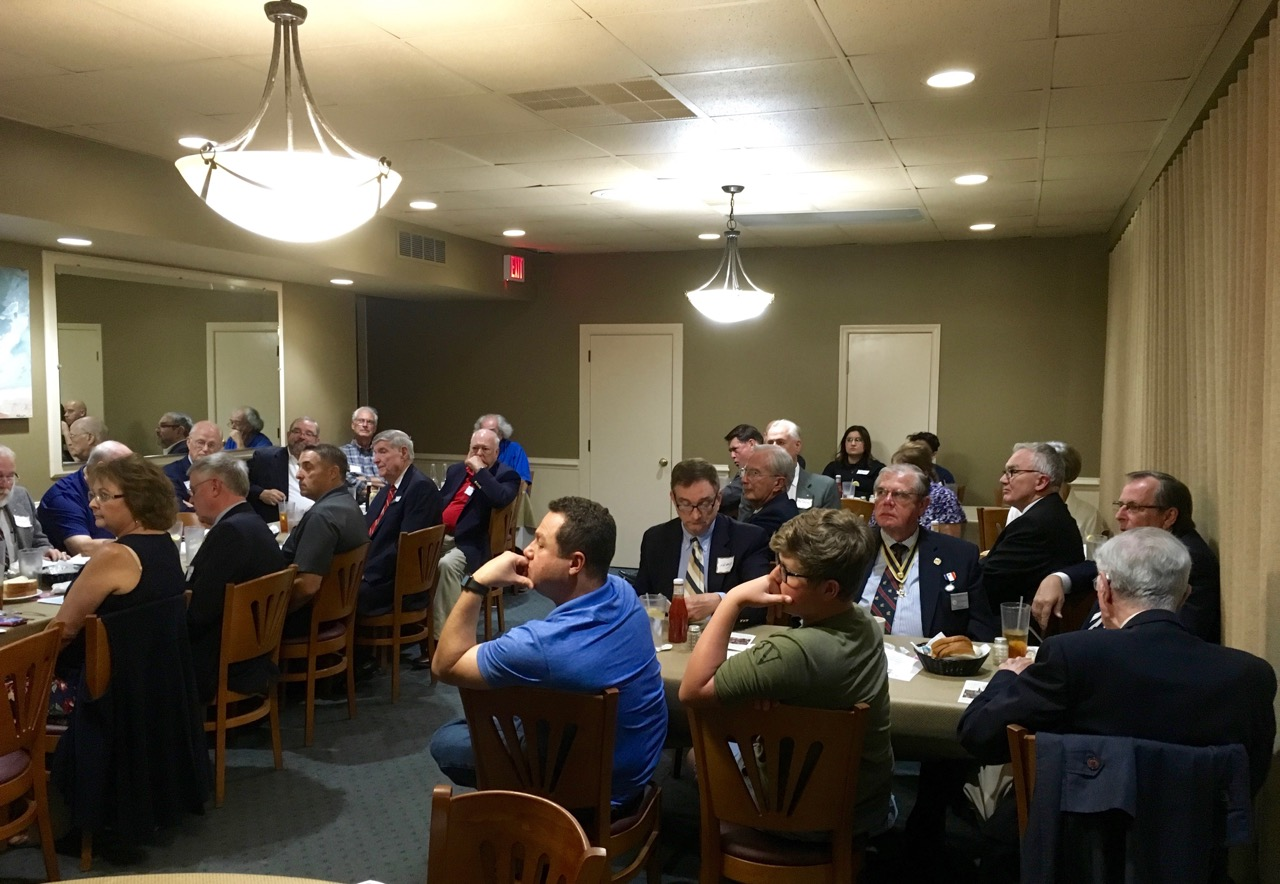 We had an excellent turnout for our September Membership Dinner Meeting. Here, the group listens intently to Lin Olsen's presentation.