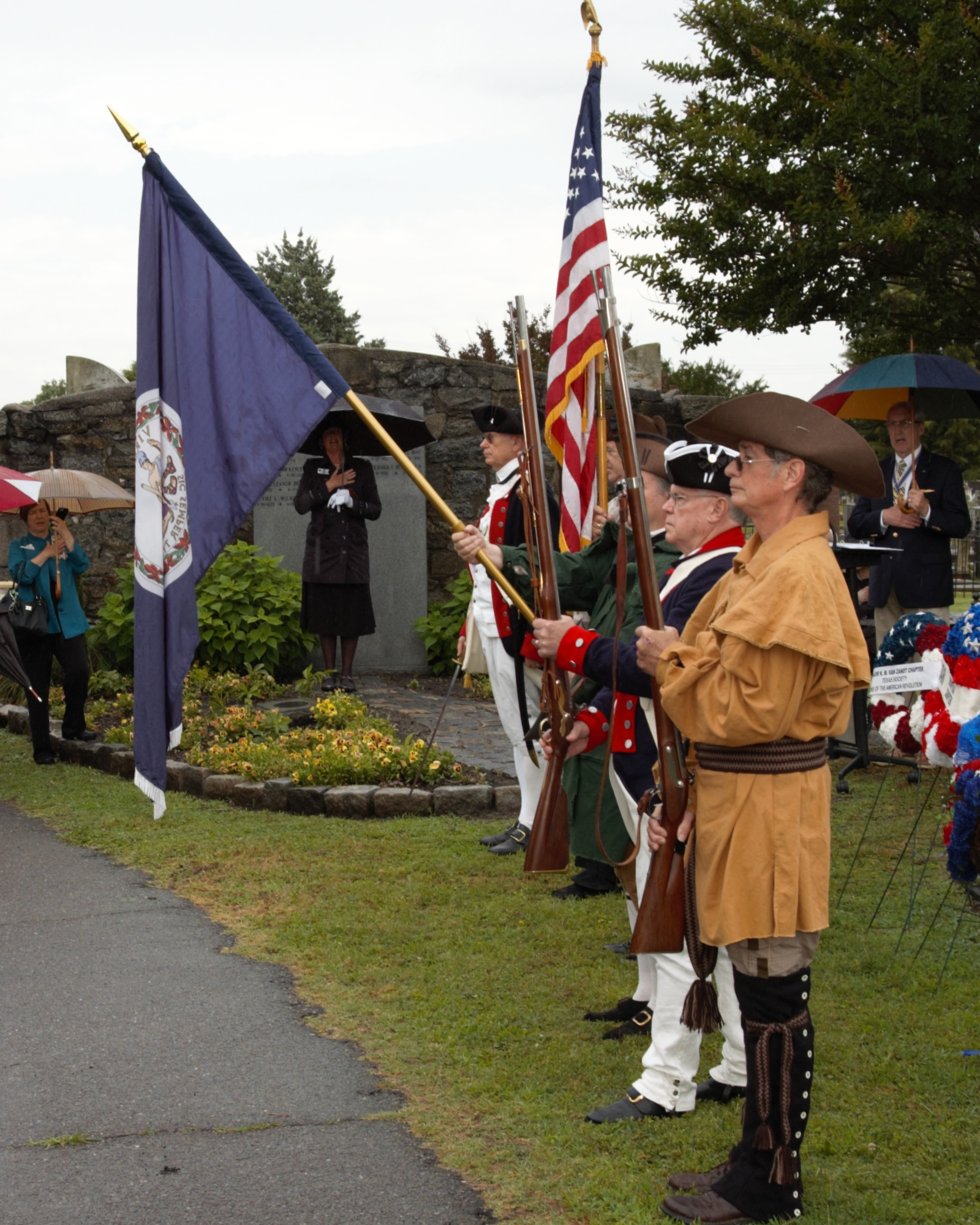 The SAR Color Guard presents the Colors at the beginning of the ceremony