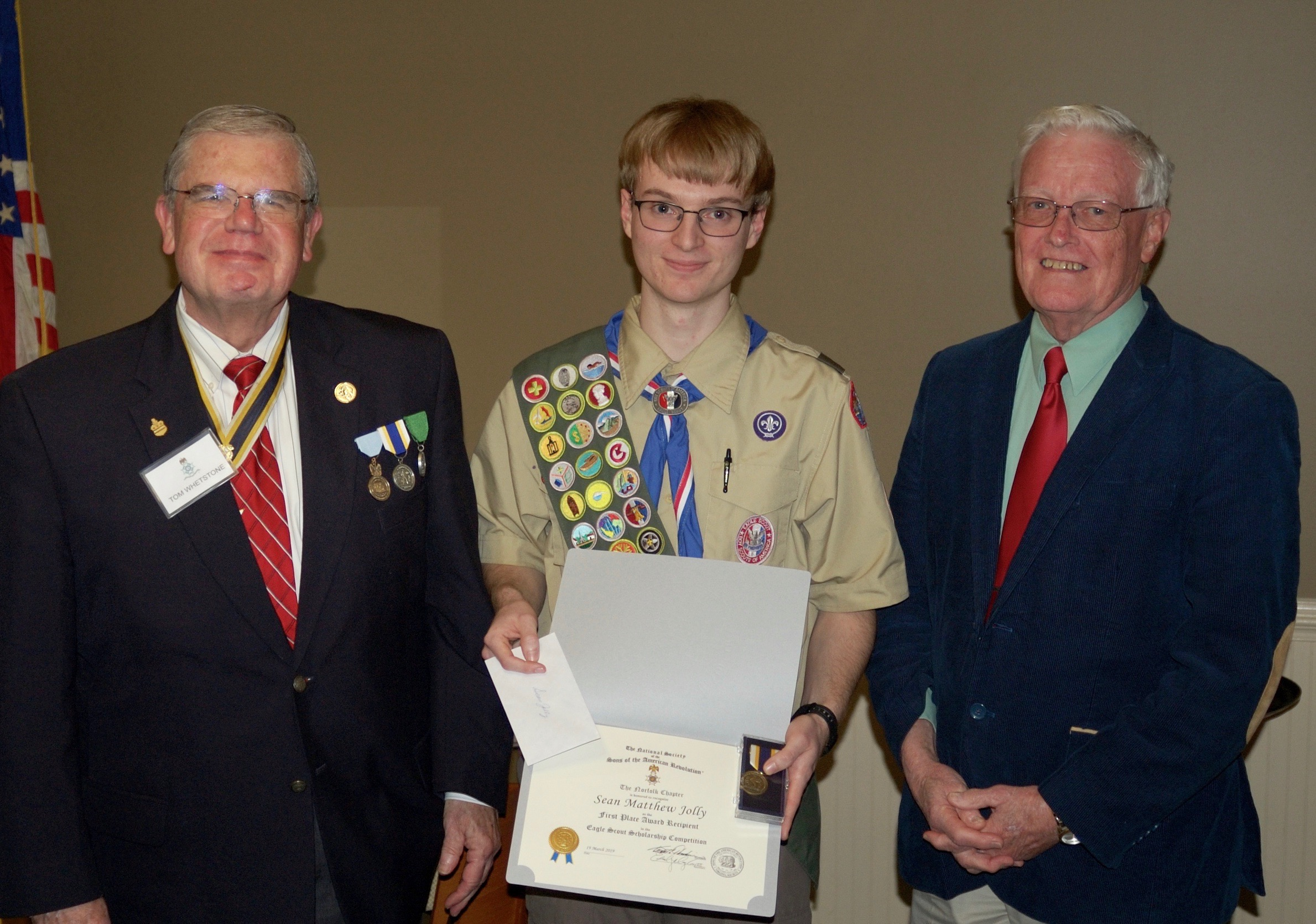 Sean Jolly the Eagle Scout Scholarship award winner